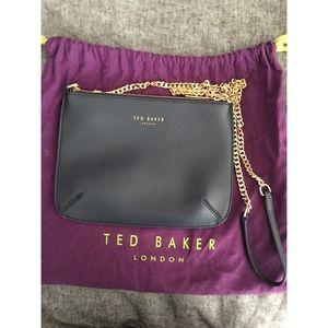 Ted Baker London navy  shoulder bag w gold strap